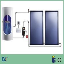 Blue coating antifreezing solution 2.5KW electric booster Solar Keymark CE 300L Flat plate split pressurized solar water heater