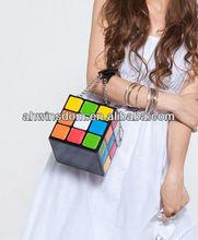 Magic packet colorized womens box handbag