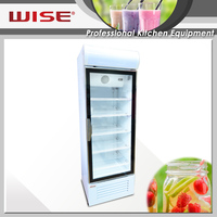 Single Glass Door Display Refrigerator/ Fridge/ Showcase Cooler
