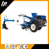 Diesle walking tractors with different types farm implements for sale