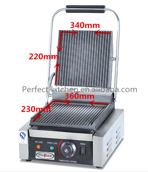 Industrial Electric Grill ~ Commercial single plate sandwish panini grill industrial