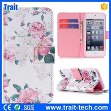 New Arrival Flip Cover Case for iPod Touch 5 with Card Holders