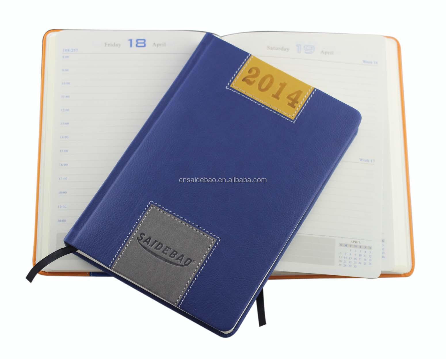 Calendar Notebook 2015 : Pu leather cover calendar notebook buy new style