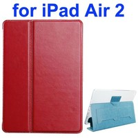 Crazy Horse Texture 2 Folding Flip Leather Smart Case for iPad Air 2