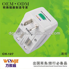 CH 127 universal travel adapter with usb port for iphone/ipad/camera/laptop charger socket