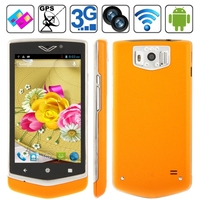 Android 4.0.9 Version, RAM: 512MB, ROM: 4GB, 6.0 inch Capacitive Touch Screen Mobile Phone with Wifi Bluetooth FM function, Dual