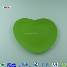 "hot selling 8"" melamine heart shaped Shallow dish"