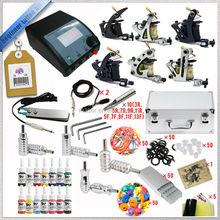 6 handmade tattoo machines kit, starter and artists used tattoo equipment kits, Chinese suppliers superior tattoo machines kit