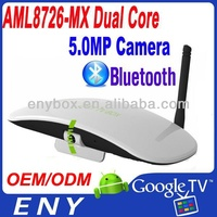 AML8726 MX Dual Core XBMC Bluetooth Android TV HDMI 1080P 5.0 MP camera Dual Core Android remote control multi tv dongle