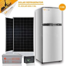 2015 guangzhou felicity Double Door 12v 24v solar refrigerator fridge freezer