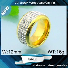 2015 Fashion high quality gold pave crystal ring wedding rings