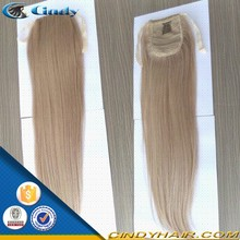 various colors 100% virgin indian silky straight wrap around human hair ponytail