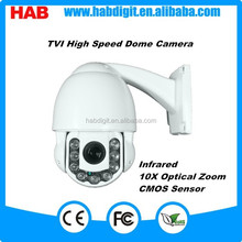 Mini 9LEDS 2Megapixel Outdoor PTZ TVI Camera 10x Speed Dome Camera