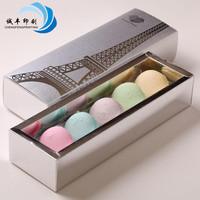 high quality paper packaging box for macaron dessert art paper box