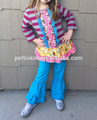 volante persnickety ropa azul volante outftis niñas al por mayor ropa niños conjuntos de trajes de primavera