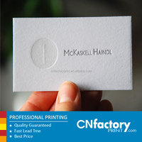 cotton paper Letterpress business cards, name card for sale