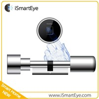 iSmartEye Cylinder Push Lock Fingerprint Scanner Door Lock