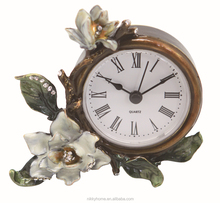 promotional metal zinc alloy table clock