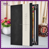 DGI ONLY - Leatterette Menu with Cover / Restaurant used leather menu covers / pvc transparent plastic menu holder