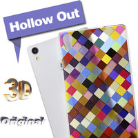 Protective Covers for Huawei ascend P7 G700 P6 Mate7 4X cases 3D Hollow out design orginal by Bustyle brand