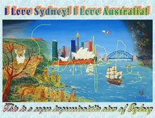 """Disc of an image """"Day and night of Sydney"""""""