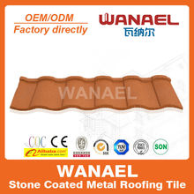 No fading Wanael stone coated metal roof tile/metal sheet for roof