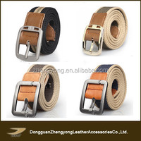 Top sale elastic custom military canvas belt with pin buckle