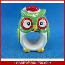 Customized OWL Shape Ceramic Napkin Paper Ring