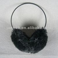 imitation fur black earmuffs/winter warm wool earmuff