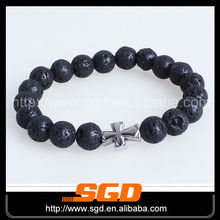 Stretch bracelets wholesale made of lava