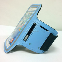 Neoprene sports jogging armband with key hole for smartphone running band