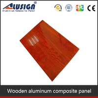 2014 cheapest interior wall aluminum composite panels wooden design aluminum plastic panel