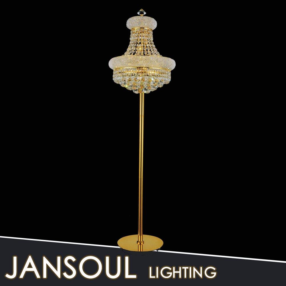 brass floor lamp crystal chandelier light buy antique gold crystal. Black Bedroom Furniture Sets. Home Design Ideas