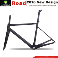 Hotest Miracle T1000 Full Carbon Fiber Chinese Road Bike Frame 2016,Road Bicycle Carbon Frame China,Bike Frame Carbon Road