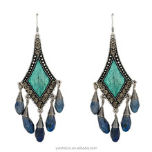 hot new products for 2015 vietnam bohemia style bali jewelry glass beads earring
