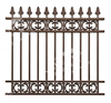 2015 new style aluminum garden fence/gate