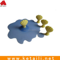 High quality flower cooking silicone pot lid , silicone pot cover lid