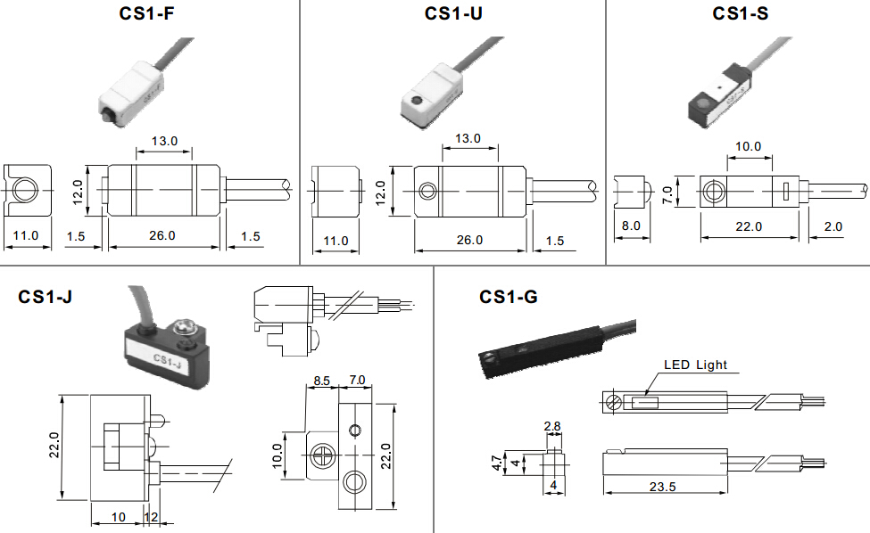 cs1 f airtac magnetic reed switch for pneumatic cylinder view airtac magnet switch cw product
