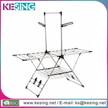 New Patent Multifunction Folding Stainless Steel floor coat hanger clothes drier