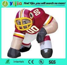Custom high quality nfl inflatable player lawn figure