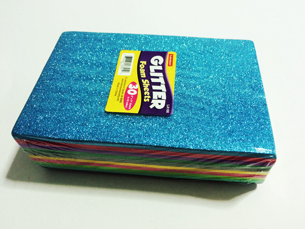 Glitter eva adhesive glitter eva foam sheet buy colorful for Best glue for craft foam