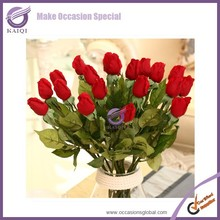 k4488 red wedding decor cheap $1 rose wholesale price