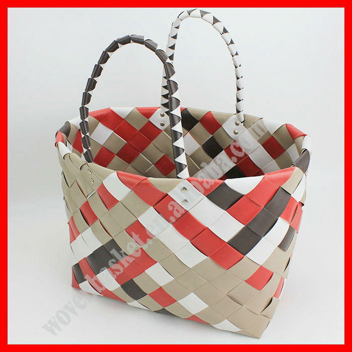 2015 New style colorful plastic beach bag