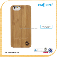 3D Knight Hard Back Phone Cases for iPhone 6 High Quality Natural Wood Bamboo Blank Mobile Covers for Apple Clear Phone Case