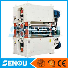 2014 large capacity full automatic particle board making cutting hot press laminating forming machine with sanding machine