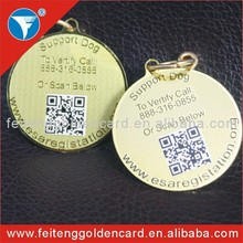high performance personalized cheap metal qr pet tag with lobster clasps hot sell in United States!!!