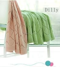 2015 Brand new picnic soogan, crochet cashmere baby blanket