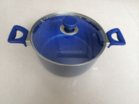 Aluminum Blue Marble Coating Cooking Pots for Induction Cooker
