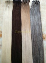 Best Selling Products Light/Dark Brown Curly Brazilian Hair Extension With Plastic Clips