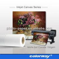 Roll Size heavy cotton inkjet canvas prints cheap china